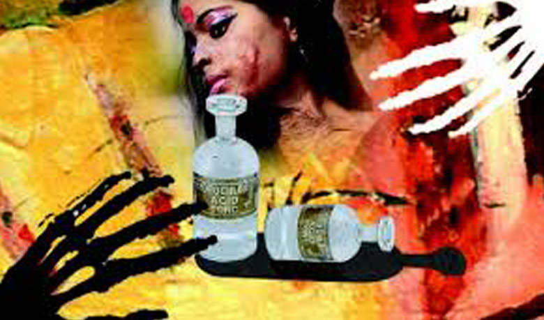 Acid attack on sleeping woman in Gazipur
