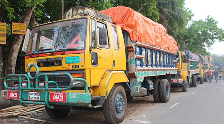 ভোলা- লক্ষ্মীপুর রুটে শতাধিক যানবাহন আটকা