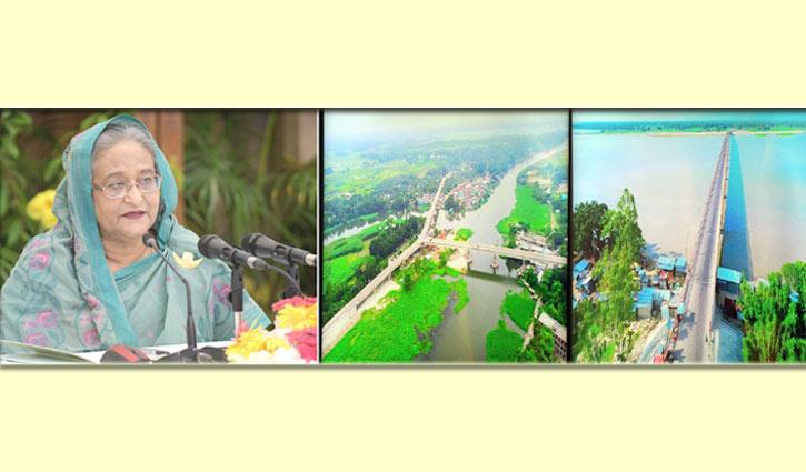 তিস্তা-তিতাস নদীর ওপর দুই সেতুর উদ্বোধন প্রধানমন্ত্রীর