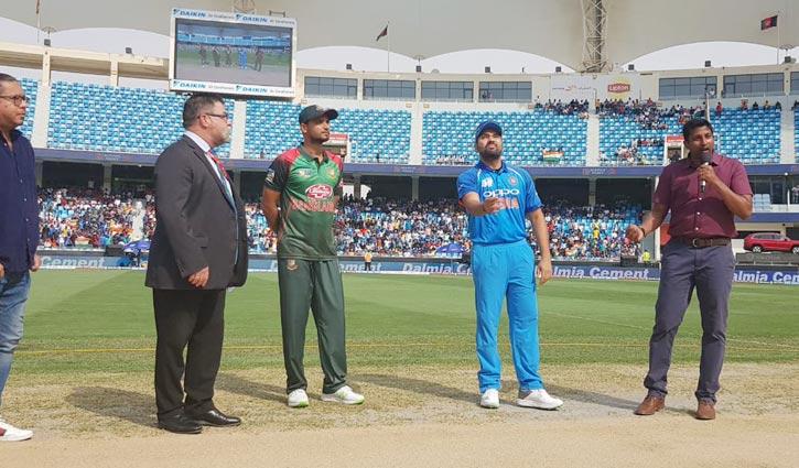 Bangladesh batting first as India invite