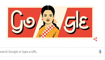 Google doodle celebrates birthday of Rosy Afsari