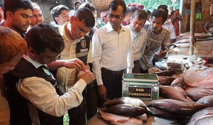 কারওয়ান বাজারে ফরমালিনযুক্ত মাছ বিক্রিতে ১২ ব্যবসায়ীর কারাদণ্ড