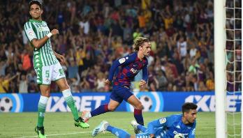 Barcelona secure 1st La Liga win as Griezmann hits two goals