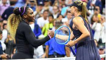 Serena beats Sharapova to reach second round