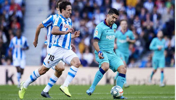 Barcelona draw with Real Sociedad opens door for Real Madrid