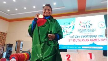 Mabia again wins gold medal for Bangladesh