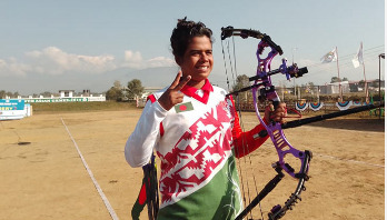 Soma wins gold medal in archery