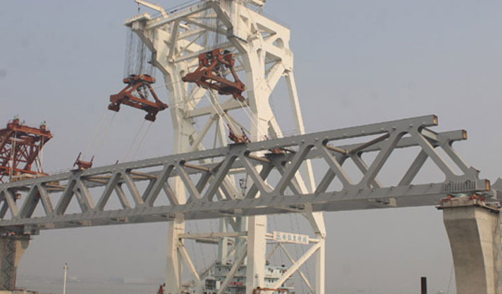 2.7 km of Padma Bridge visible as 18th span installed