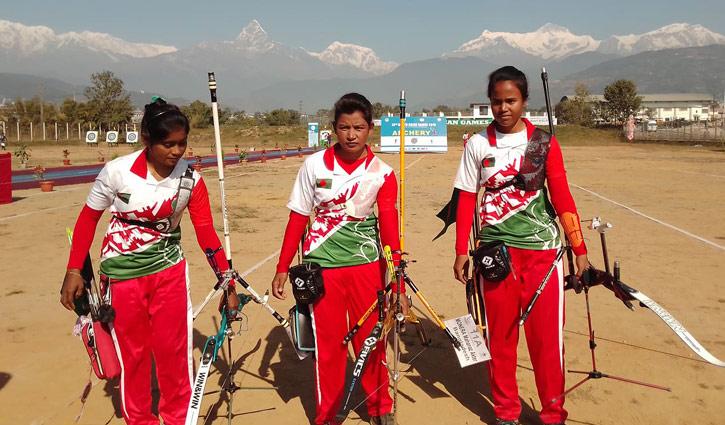 Archery women team win gold medal for Bangladesh