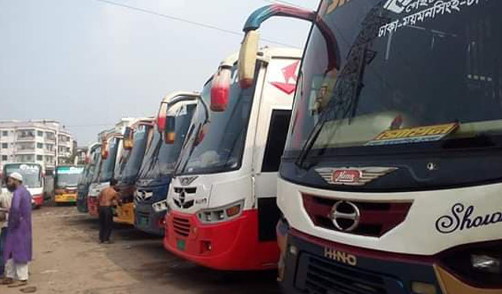 Bus service suspended from Mymensingh