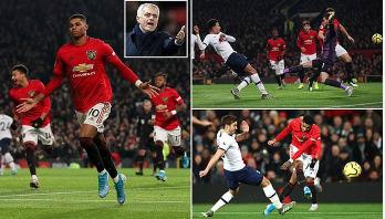 Rashford strikes twice as Manchester United beat Tottenham 2-1