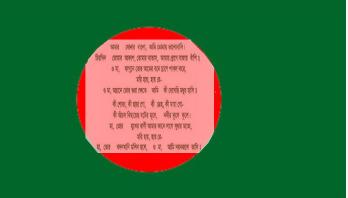 ২৬ মার্চ সারাদেশে একযোগে জাতীয় সংগীত