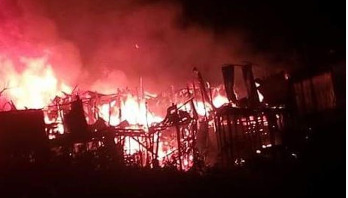 Over 100 shanties gutted in Rangamati fire