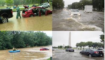 Dangerous flash flooding hits Washington DC