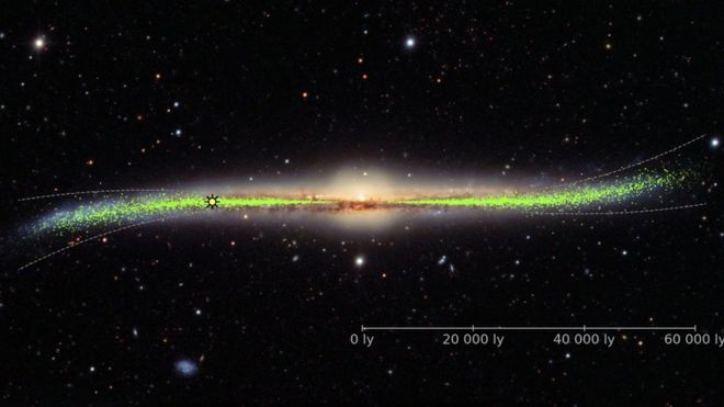 Milky Way galaxy is warped and twisted, not flat