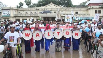 কুমিল্লায় ওয়ালটনের শোভাযাত্রা