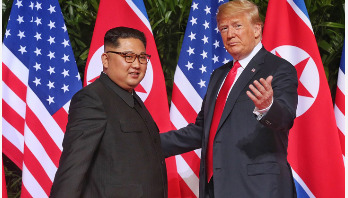 Trump to sit with Kim today