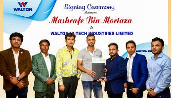 Mashrafe becomes brand ambassador of Walton