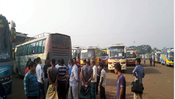 Transport strike continues in Khulna