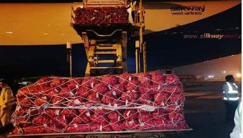 পাকিস্তান থেকে বিমানে ৮২ টন পেঁয়াজ এসেছে