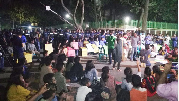 JU protesters hold concert demanding VC's removal