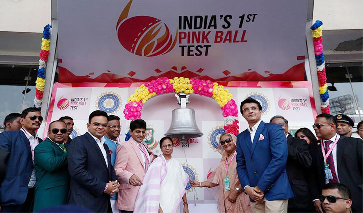 Bangladesh PM opens 'pink ball' cricket test with India