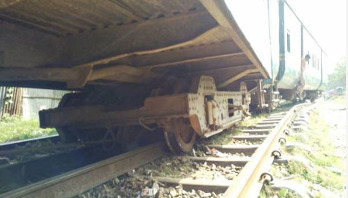 Train derails at Bhairab, rail link snapped