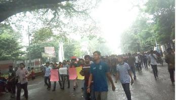 BUET student's death: Demonstration on DU campus