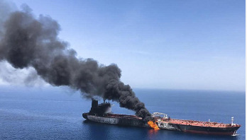 Explosion on Iranian oil tanker off Saudi coast