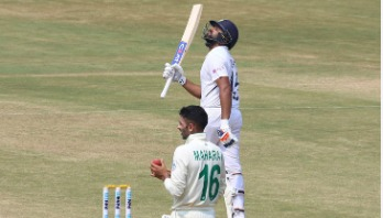 Rohit scripts test cricket history with double ton