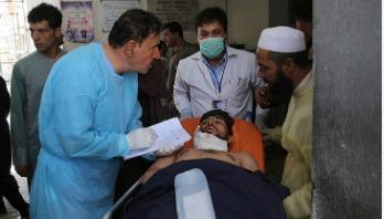 Explosion targets Afghan president's rally, 24 killed