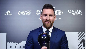 Messi wins FIFA award for best men's player