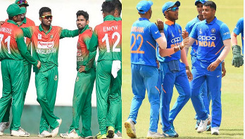 India batting against Bangladesh in U-19 Asia Cup final