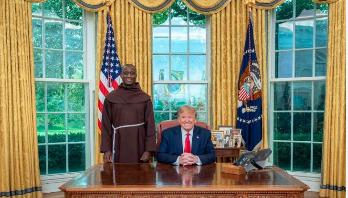 World famous teacher meets Trump