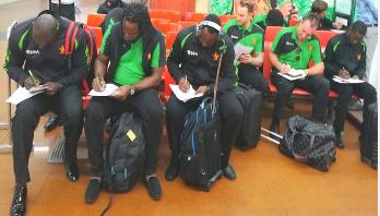 Zimbabwe cricket team arrives in Dhaka