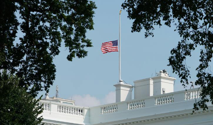 Trump orders flags to fly at half-staff
