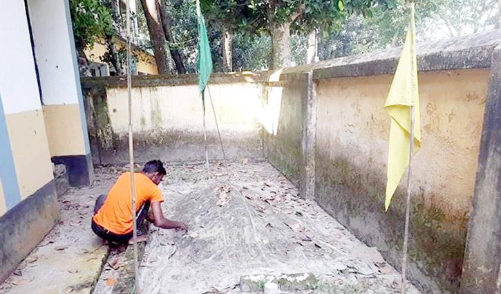 লাখাই প্রাণিসম্পদ কার্যালয় প্রাঙ্গণে 'মাজার' বিড়ম্বনা