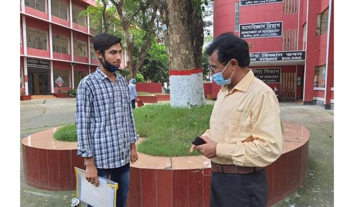 রাজশাহী কলেজ অধ্যক্ষের সহায়তায় স্বপ্ন পূরণ হলো 'গোল্ডেন বয়' রনির