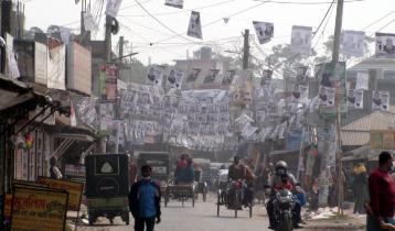 টুঙ্গিপাড়া পৌর নির্বাচন: পোস্টারে ছয়লাব, প্রার্থীরাও মাঠে