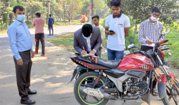 হবিগঞ্জে ত্রুটিপূর্ণ যানবাহনের বিরুদ্ধে মামলা-অর্থদণ্ড