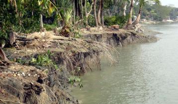 ঝালকাঠিতে আকস্মিক নদী ভাঙন
