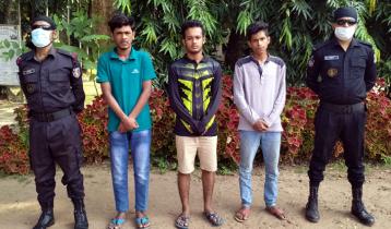 কিশোরগঞ্জে চাকুসহ কিশোর গ্যাংয়ের ৩ সদস্য আটক
