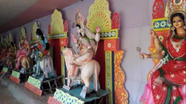 শ্রীমঙ্গলে প্রাচীন মন্দিরে চলছে ৯দিন ব্যাপী আগাম দুর্গাপূজা