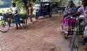 রাস্তায় গর্ত: ১২ বছর ধরে বাস চলাচল বন্ধ