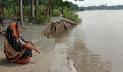 কালীগঙ্গা নদীর ভাঙনে হুমকিতে শহর রক্ষা বাঁধ