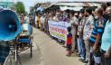 মোংলা পোর্ট পৌরসভার নির্বাচন দাবিতে মানববন্ধন