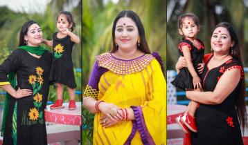 ডিজাইনিং ব্লাউজের সঙ্গেই হোক শাড়ি: রুম্পা