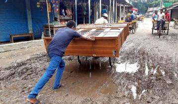 এক যুগের অবহেলা: বেলকুচি-উল্লাপাড়া সড়কে চরম ভোগান্তি