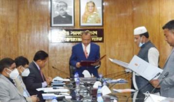 হবিগঞ্জ জেলা পরিষদ সদস্য আব্দুল্লাহ সরদারের শপথ গ্রহণ