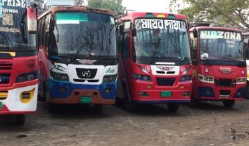 সারাদেশের সঙ্গে সিরাজগঞ্জের বাস যোগাযোগ বন্ধ